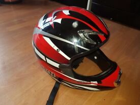 Motorcross motorcycle helmet XL well worn