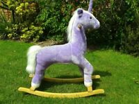 Purple Unicorn Rocking Horse
