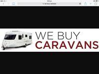 We buy all caravans