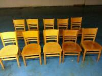 20 x solid wood chairs ( item 1 )
