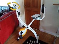 Ultra Sport Foldable Home Trainer Bike. Magnetic resistance, 8 levels, easy to fold & store