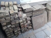 50 square meter natural indian stone & 200 stock bricks seconds