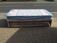 Single divan bed with guest bed-£45 delivered
