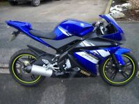 Yamaha yzfr125r with malossie 180 kit