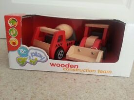 Wooden Construction truck toys - boxed as new