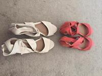 2 pairs of berties leather sandals size 5