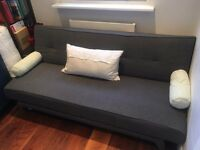 Made Yoko Sofa Bed Futon in Very Good Condition, cygnet grey - pickup only, SW London