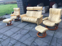 Ekorness stressless cream leather suite DELIVERY AVAILABLE