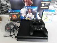 Ps4 500gb 2 controllers and games fifa 18 no swaps
