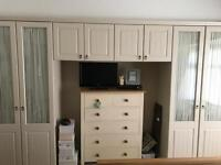 Fitted cream wardrobes for sale