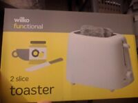 Wilko toaster for £5 Wilko kettle for £5 Morrisons vaccum cleaner(1200W) £15 Microwave(17L) £15 .