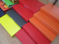 21 x assorted A4 folders - many unused and new