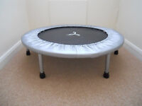 EXERCISE TRAMPOLINE & WEIGHTS
