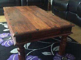 Indian wood coffee tables