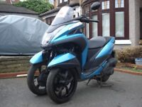 YAMAHA, 2017, MWS125-A TRICITY 125, 3 Wheel scooter, For sale £2995.