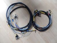 2 multicores, both 4metres long one 8 way one 4 way, both balanced twin & earth, inc. 24 connectors