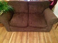 Lovely comfy brown chocolate 2 seater sofa