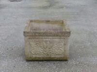 Nice Stylish Square Garden Planter Garden Pot with Acorn & Oak Leaf Detail