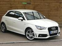 Audi A1 1.6 TDI S Line 5dr VERY SHARP EXAMPLE (amalfi white) 2013