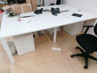office workstation desk table 4 positions white