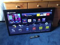 SAMSUNG 46 INCH FULL HD 1080P SMART LED TV WITH FREEVIEW HD BUILT IN.