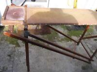 Vintage retro wooden ironing board