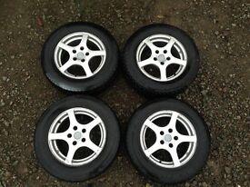 Original Fox Racing wheels 5x112 225/60/15 Alloy Wheels with tyres