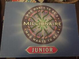 Junior who wants to be a millionaire.