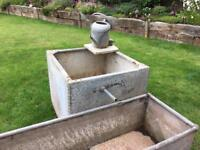 Water feature or planting troughs