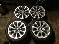 """BMW Alloys 17"""" wider rears runflats (1 series and 3 series would fit other models) £175 REDUCED"""