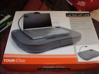 LAP DESK WITH LAMP (New & Boxed)
