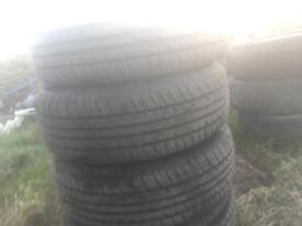 """195/55/15"""" tyres x4 all like new on rims"""