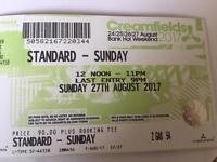 creamfields ticket