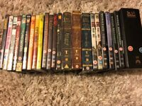 25 DVDs; includes Lord of the Rings DVD set; Matrix collection; Godfather collection, Che box set