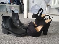 Womens heels & boots SIZE 6