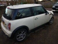 Breaking Mini One 2004 petrol 1.6 manual cream spares