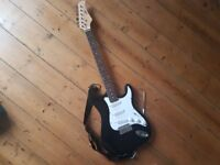 Electric guitar with Amp starter kit