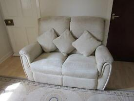 ELEGANT, QUALITY TWO-SEATER SOFA WITH CUSHIONS