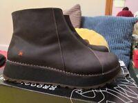 Art Company boots flatform black leather uk6 eu39 new w box