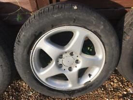 4 x Volkswagen caddy alloy. Wheels and tyres