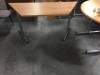 A light beech foldable desk