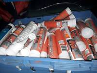 Job lot of silicone caulk glue adshevie all sorts 47 in total