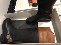 Italian leather boots- size 5
