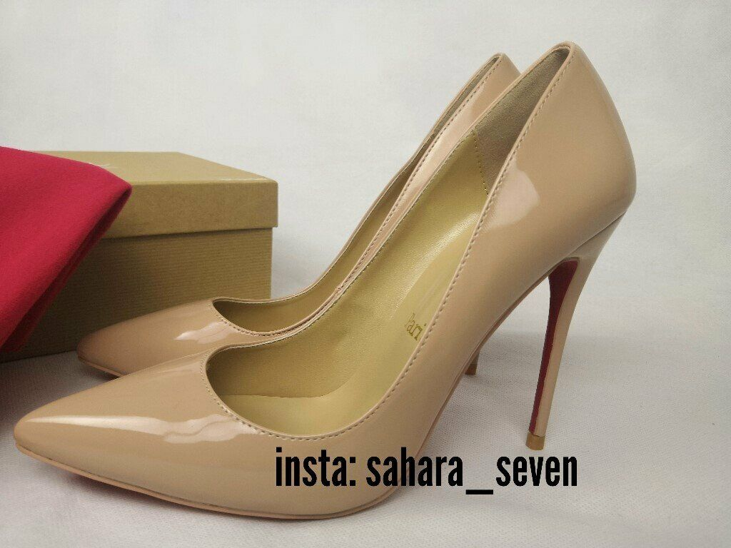 9835aefb55c Ladies Shoes Red Sole High Heel Nude Christian Louboutin heels Lv Louis  Vuitton £75