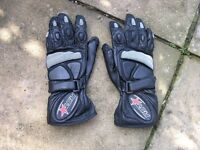 Small RST Leather Motor Cycle Gloves Weymouth