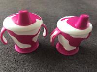Anywayup pink cow cups