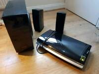 Samsung 2.1 speakers with base and dvd player