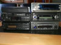 3 CD players 2 tape players Panasonic Kenwood blaupunkt