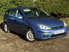 2002 Ford Focus 1.6 LX 5 door**Full Years Mot** Warranty inc**Low miles** fiesta,clio,megane,cheap