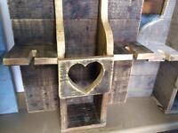 Waxed pallet wood wine rack